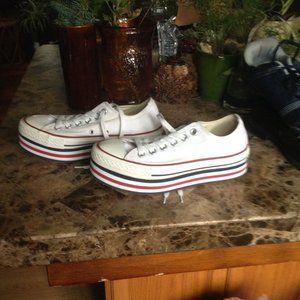 Womens Vintage Converse lift/double sole shoes. 7